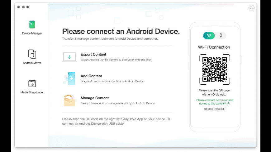 AnyDroid for Mac - review, screenshots