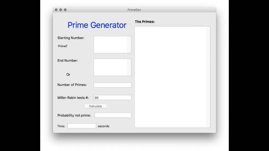 PrimeGen for Mac - review, screenshots