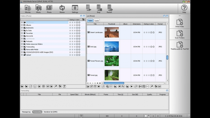 Wild Media Server for Mac - review, screenshots