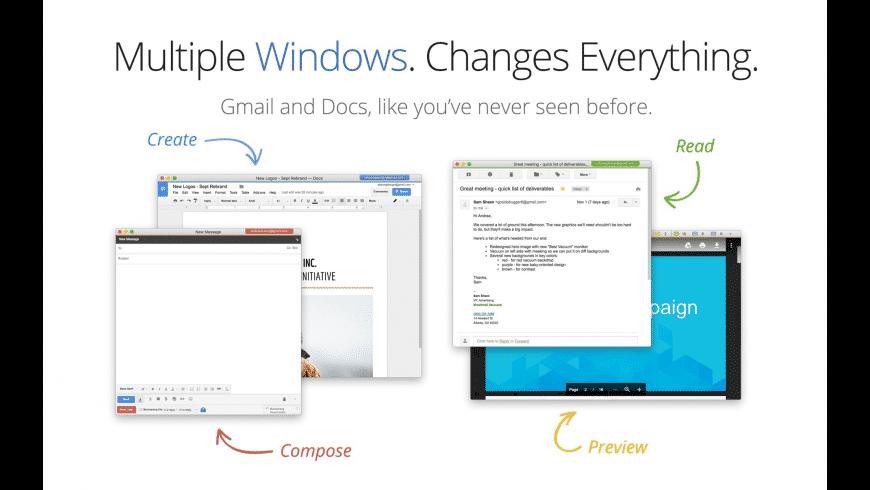 Kiwi for Gmail for Mac - review, screenshots