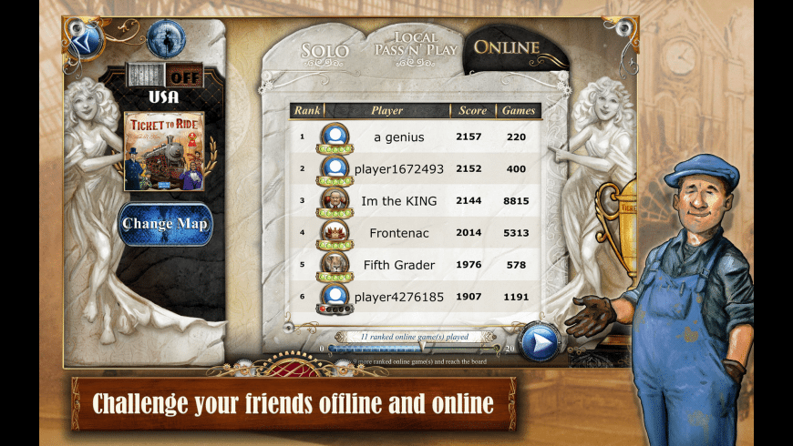 Ticket to Ride for Mac - review, screenshots
