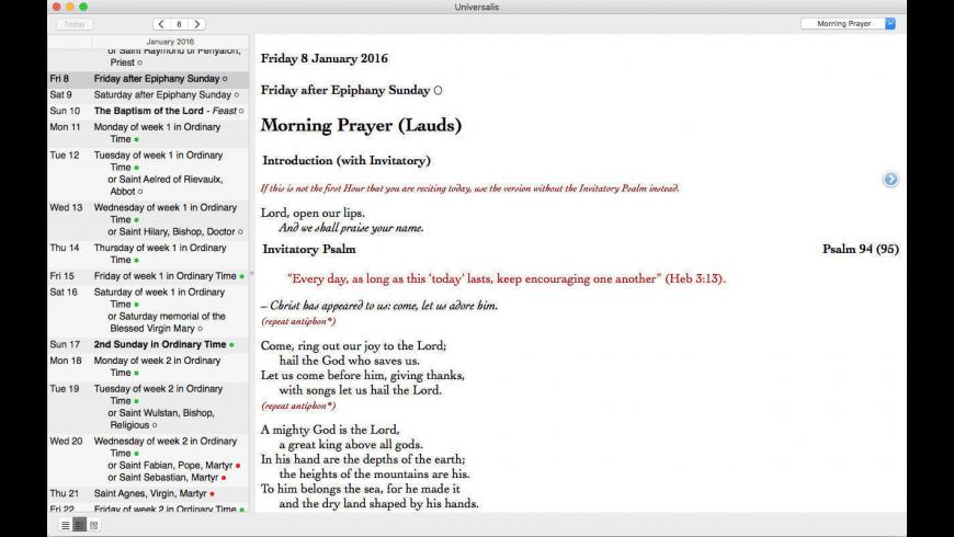 Universalis for Mac - review, screenshots