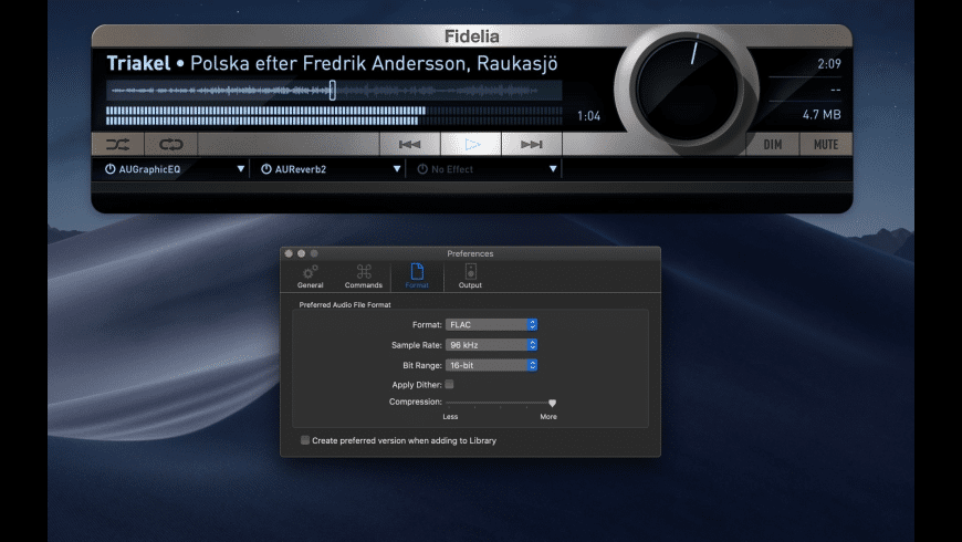Fidelia for Mac - review, screenshots