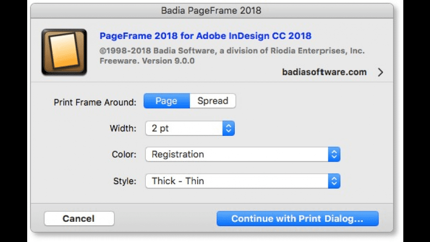 Badia PageFrame for InDesign CC 2018 for Mac - review, screenshots