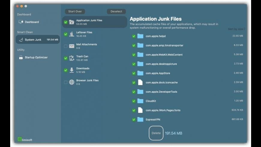 Elimisoft MacClean for Mac - review, screenshots