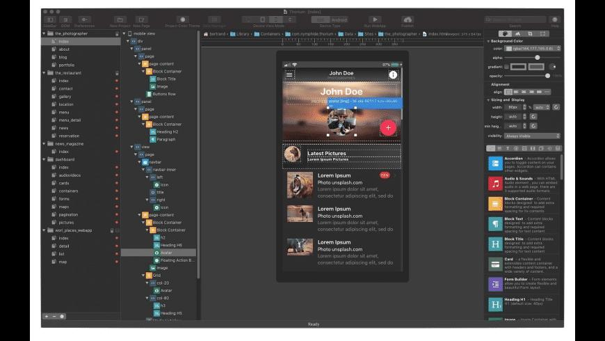 Thorium Builder for Mac - review, screenshots