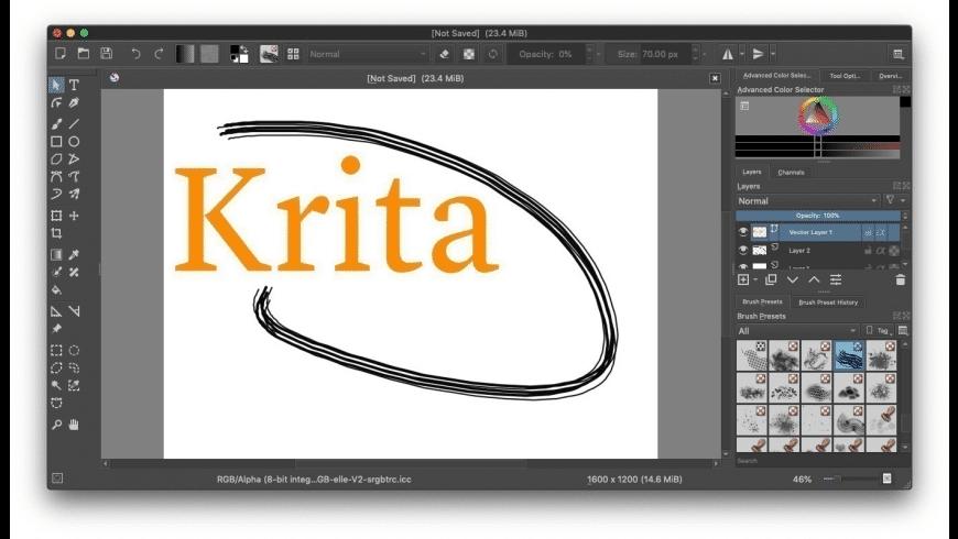 Krita for Mac - review, screenshots