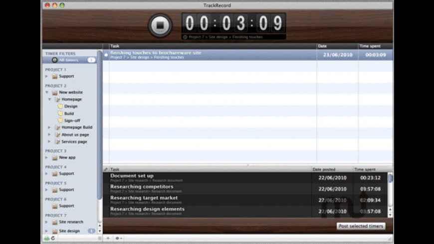 TrackRecord for Mac - review, screenshots