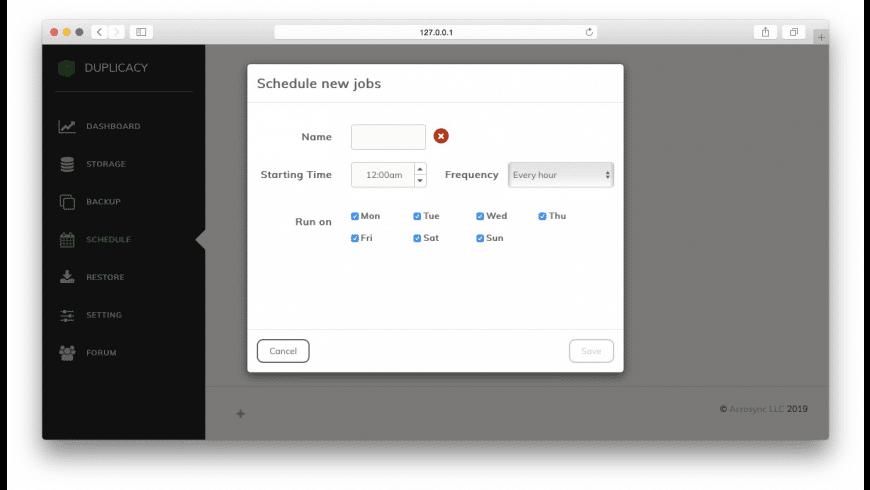Duplicacy Web Edition for Mac - review, screenshots