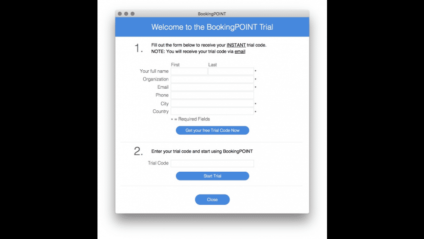 BookingPOINT for Mac - review, screenshots