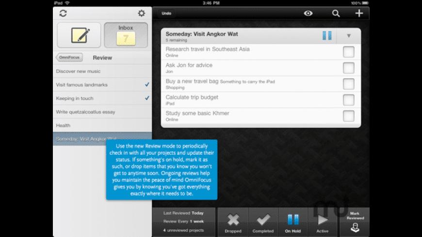 OmniFocus for iPad for Mac - review, screenshots