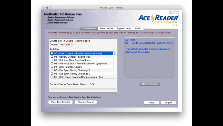 AceReader Pro Deluxe Plus for Mac - review, screenshots