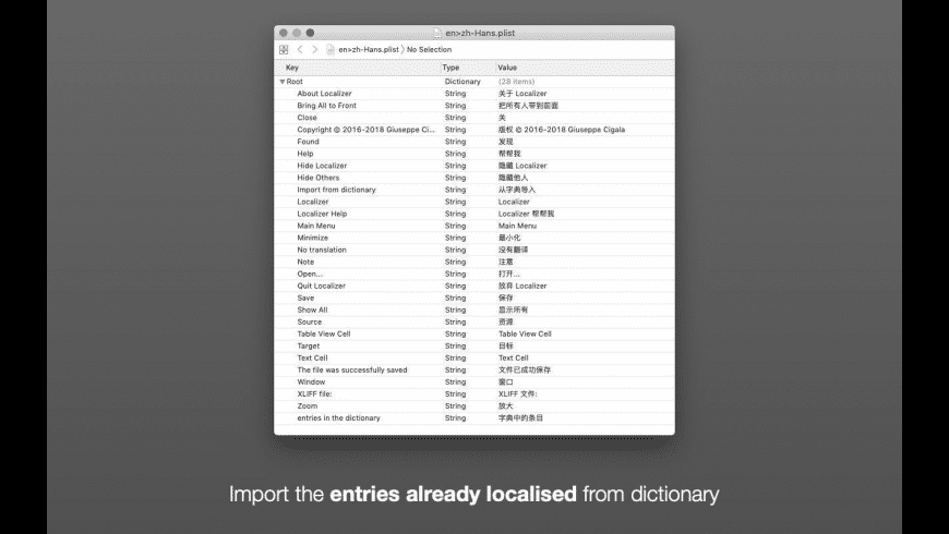 Localizer for Mac - review, screenshots