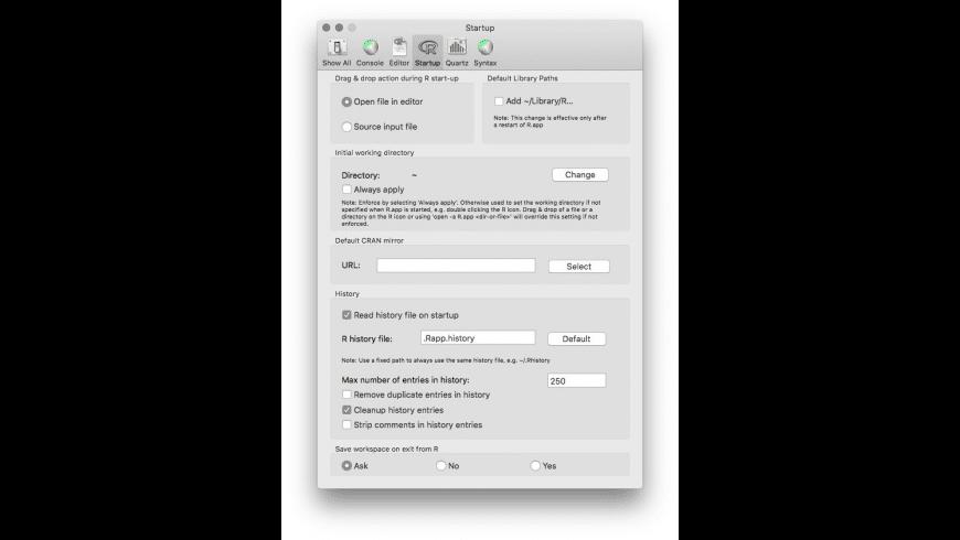 R for Mac - review, screenshots