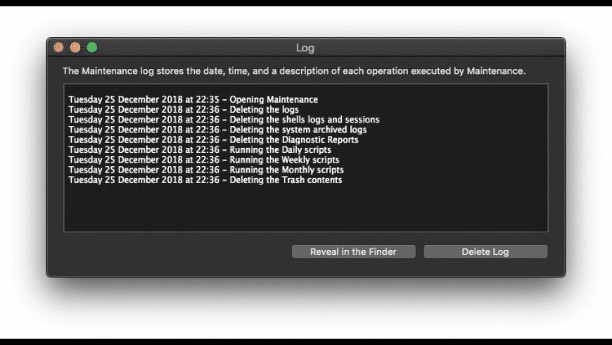 Maintenance for Mac - review, screenshots