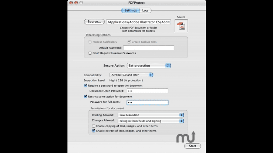 PDFProtect for Mac - review, screenshots