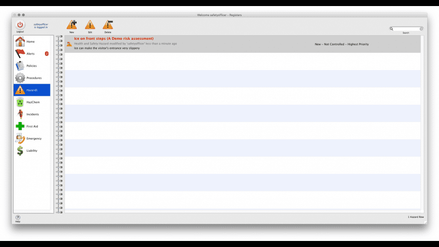 Risky Business SOS for Mac - review, screenshots