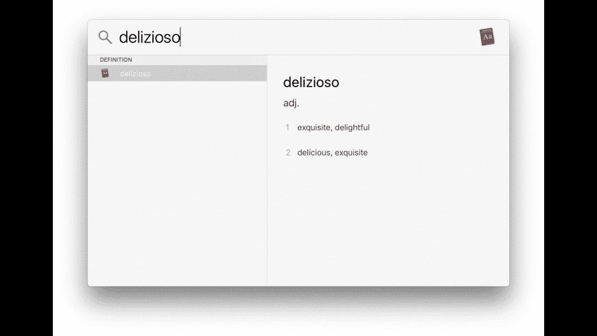 Dictionaries for Mac - review, screenshots