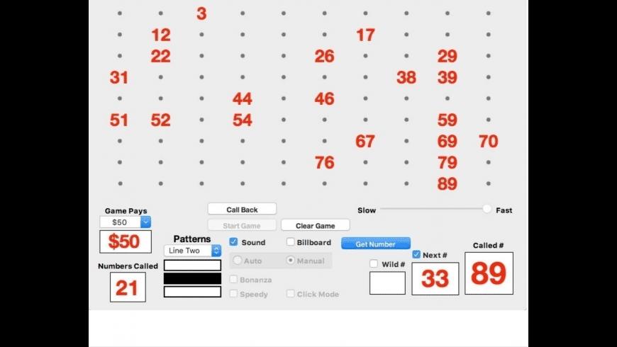 Bingo Caller 90 for Mac - review, screenshots