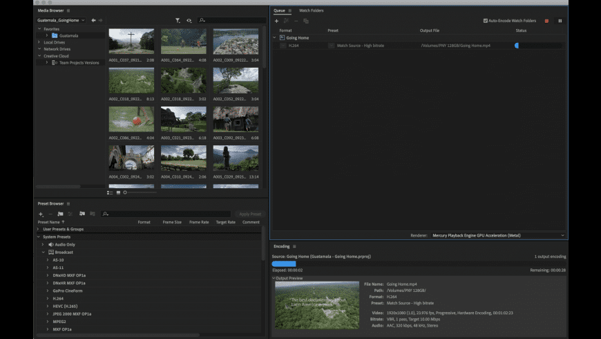 Adobe Media Encoder CC for Mac - review, screenshots