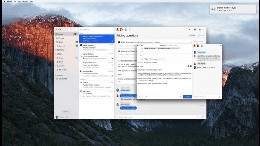 Missive for Mac - review, screenshots