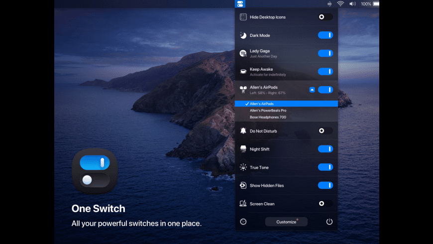 One Switch for Mac - review, screenshots