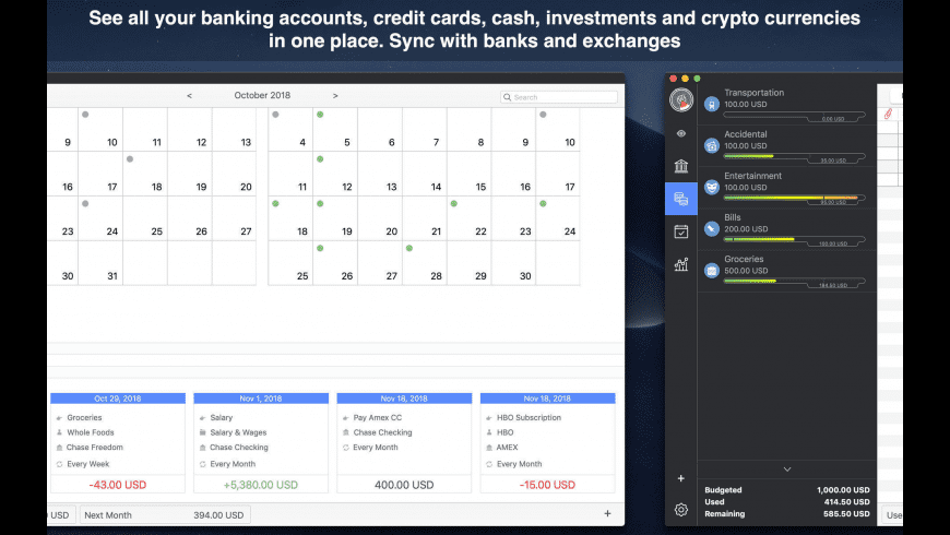 MoneyWiz for Mac - review, screenshots