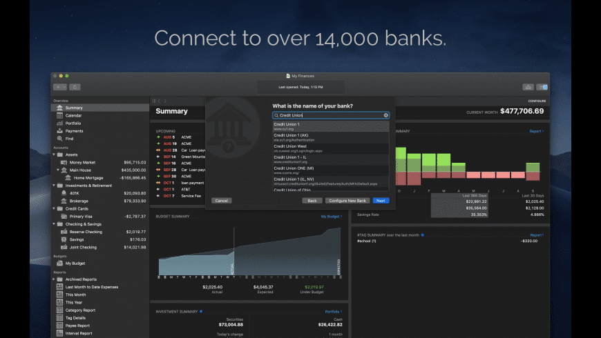 Banktivity for Mac - review, screenshots