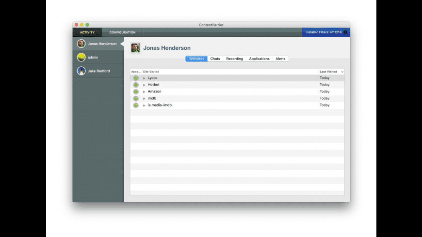 ContentBarrier X9 (3 Licenses) for Mac - review, screenshots