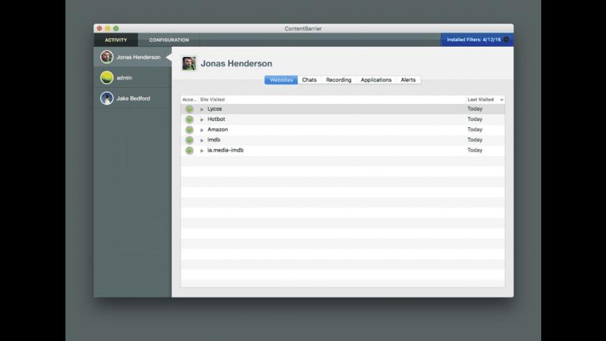 ContentBarrier X9 for Mac - review, screenshots