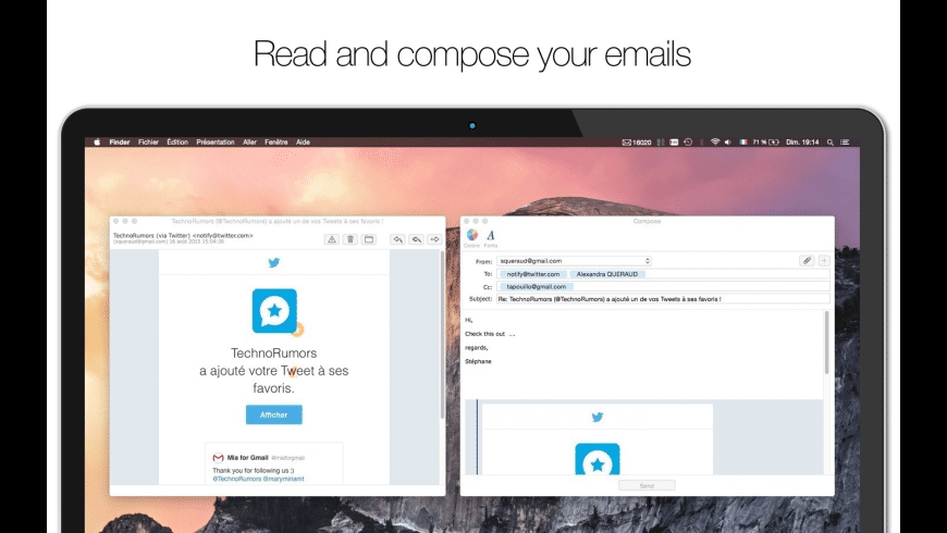 Mia for Gmail for Mac - review, screenshots