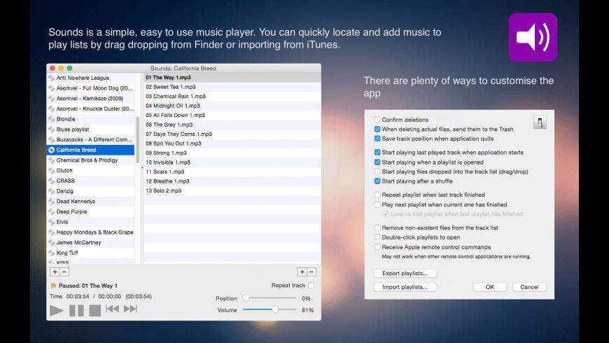 Sounds for Mac - review, screenshots