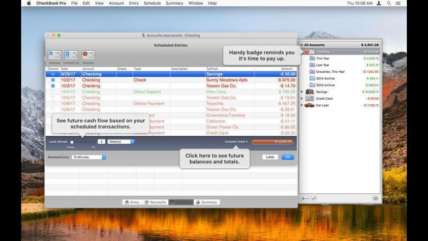 CheckBook Pro for Mac - review, screenshots