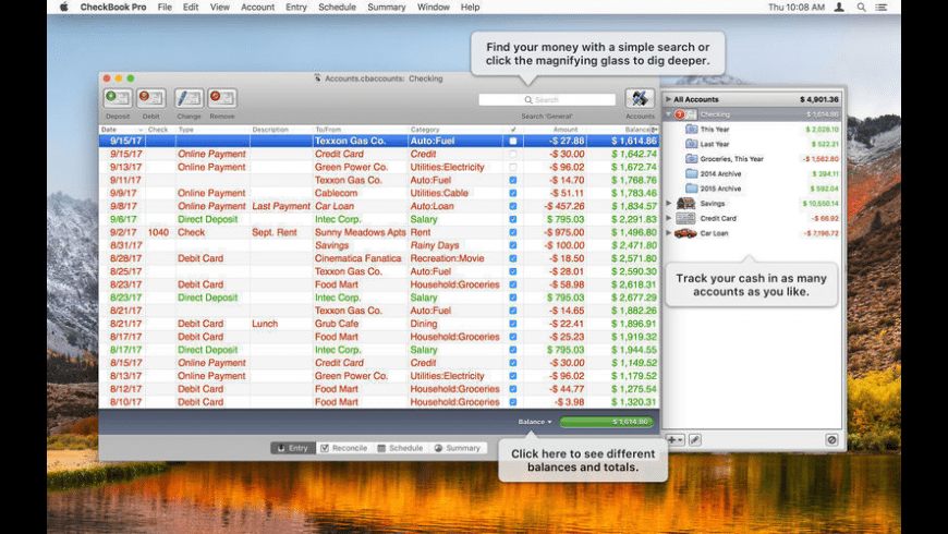 CheckBook Pro for Mac - review, screenshots