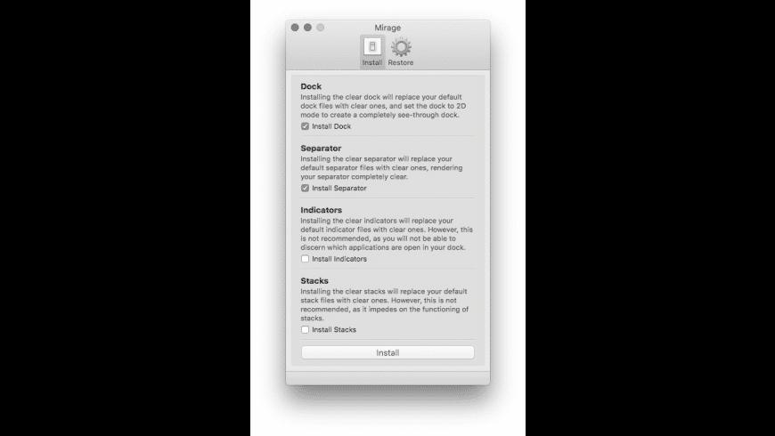 Mirage for Mac - review, screenshots