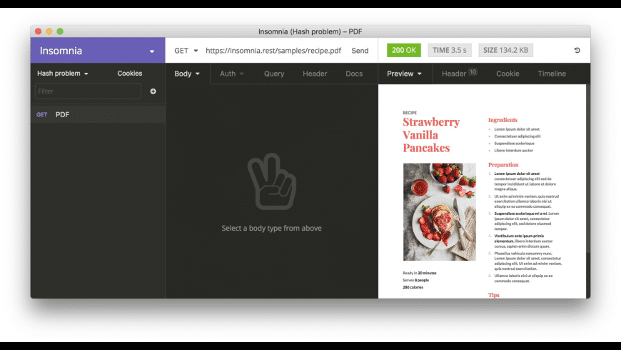 Insomnia for Mac - review, screenshots