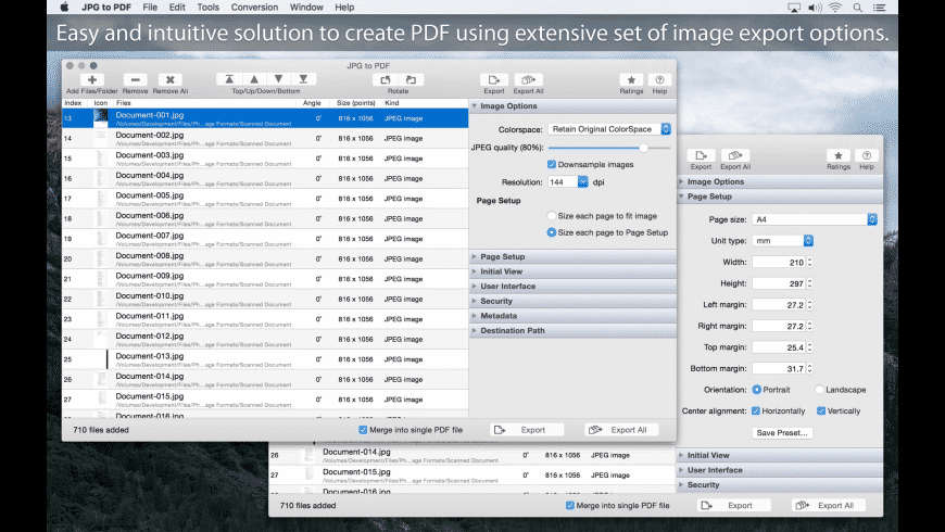 JPG to PDF for Mac - review, screenshots