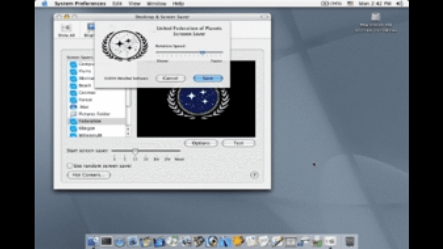Federation Screen Saver for Mac - review, screenshots