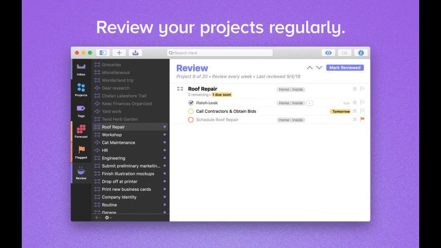 OmniFocus for Mac - review, screenshots