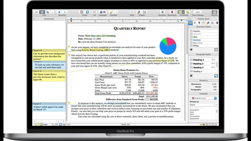 Nisus Writer Pro for Mac - review, screenshots