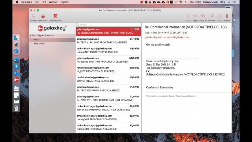 Galaxkey for Mac - review, screenshots
