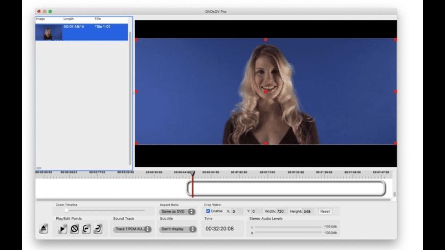 DVDxDV Pro for Mac - review, screenshots