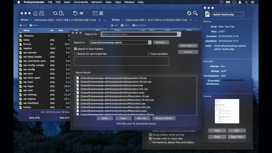 ProCommander for Mac - review, screenshots