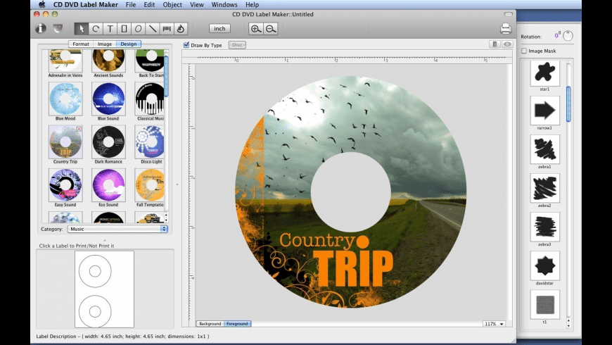 CD-DVD Label Maker for Mac - review, screenshots