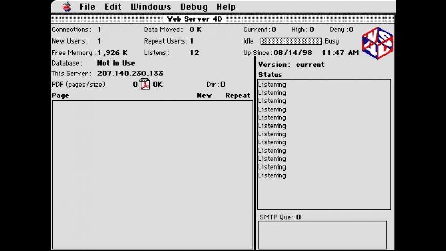 Web Server 4D Updater for Mac - review, screenshots