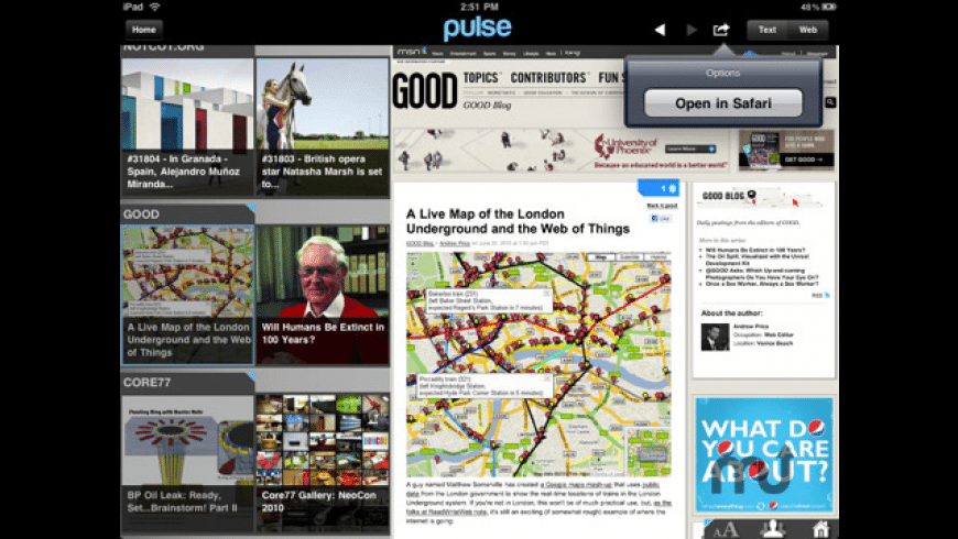 Pulse News Reader for Mac - review, screenshots