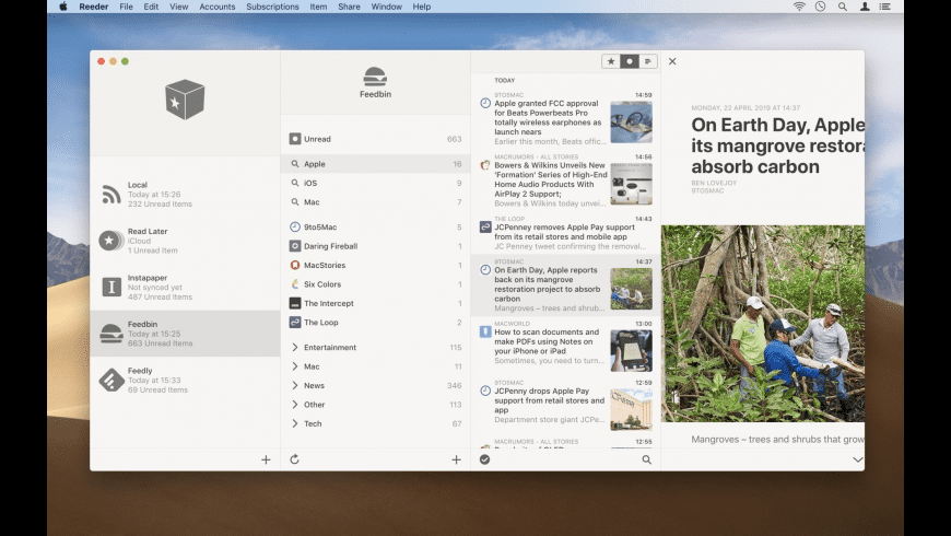 Reeder for Mac - review, screenshots