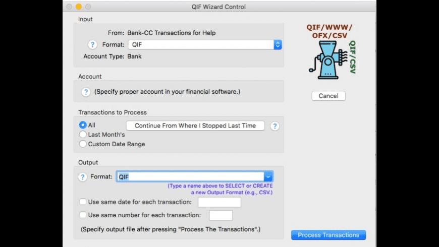 QIF Wizard for Mac - review, screenshots