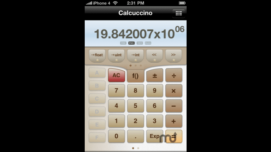 Calcuccino Programmers\' Calculator for Mac - review, screenshots