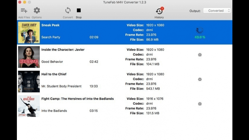 TuneFab M4V Converter for Mac - review, screenshots